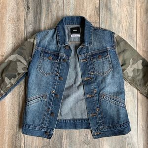 BDG Jean Jacket with Camo Paneling